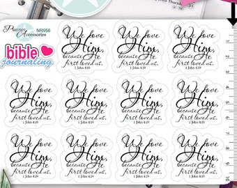Clear Bible Journaling Stickers Bible Stickers Jesus Stickers Planner Stickers Erin Condren Functional Stickers Decorative Stickers NR956