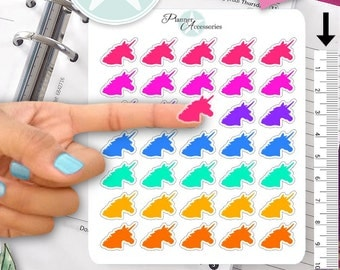 Clear Unicorn Stickers Planner Stickers Erin Condren Live Planner Functional Stickers Decal Sticker 388
