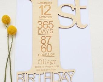 First birthday card 1st birthday card birthday card personalised birthday card bookmarktalkfo Images