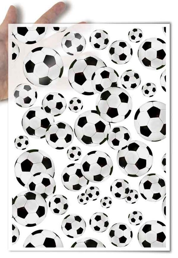Decoupage Paper • soccer balls on a white background • for mod podge decopatch scrapbooking