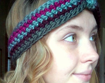 Colorful Crocheted Headband