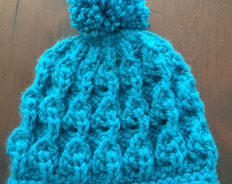 The Leslie. Hand knitted cozy woman. Chunky warm