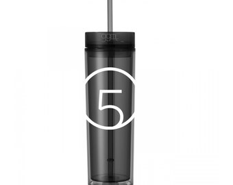 Fifth Harmony - 5H - 16oz - Skinny Tumbler With Straw and Lid- Hot & Cold - Harmonizers - God Give Me Truth