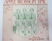 "Vintage 1941 ""Apple Blossom Time"" Sheet Music, Andrews Sisters, Buck Privates."