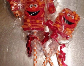 Elmo Rice Krispie pops - 1 dozen