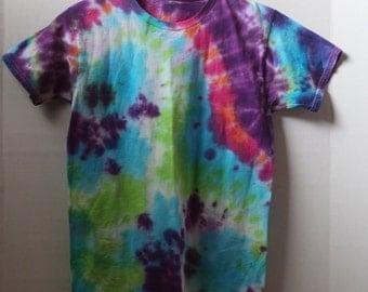 Double Swirl Tie Dye Shirt- Youth Large