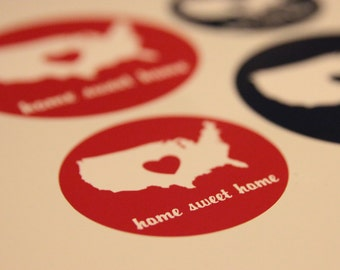 Home Sweet Home Sticker (USA, United States of America, Patriotic)