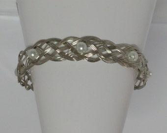 Pearl Celtic Weave Bracelet
