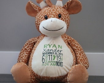PERSONALIZED TEDDY BEAR| Custom embroidered stuffed animal | Personalized Teddy | Baby Gift