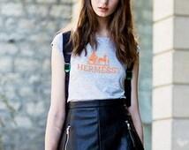 Hermessy Hermes Tee by Messy Preppy ~ Tailor Trash Screen Printed High Fashion Inspired Custom T Shirt