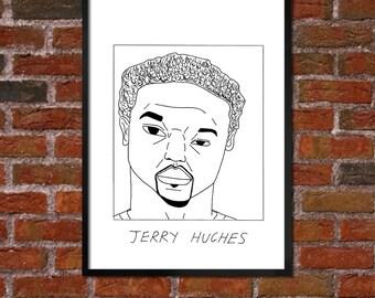 Badly Drawn Jerry Hughes - Buffalo Billsposter / print / artwork / wall art