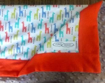 Baby and Children's Blanket - kindergarten and car blanket, Minky and Flannelette