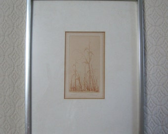 Howard Lessnick Etching, Print, Signed & Numbered, 30/300, Vintage