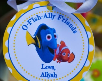 Finding Dory Favor Tags Finding Nemo Favor Tags Finding Dory Party Favors Finding Nemo Party Favors Finding Dory Birthday Decorations