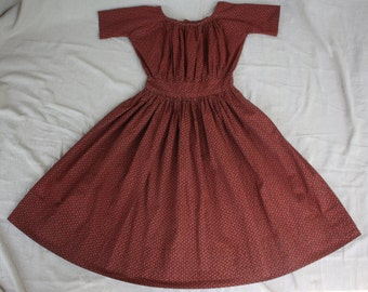1860's, Civil War Era Reproduction Girl's Dress