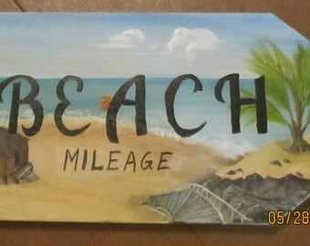 Beach Sign right pointing