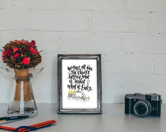 Harry Potter Quote Printable - We Must All Face the Choice between what is Right and what is Easy