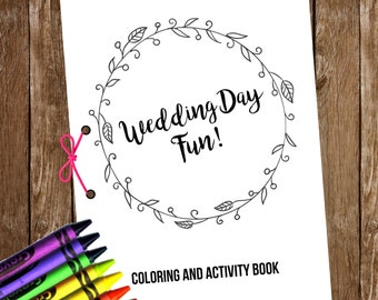 Wedding Coloring & Activity Book // Kids Wedding Coloring Book // Printable