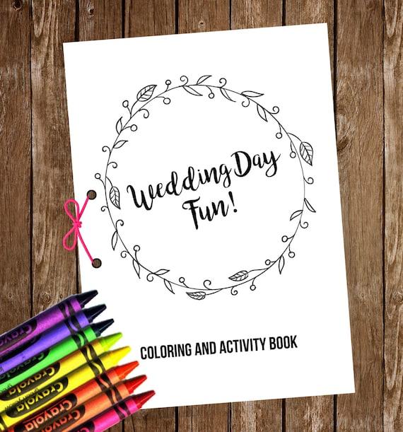 wedding coloring activity book kids wedding coloring book printable - Kids Wedding Coloring Book