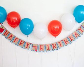 Apple of my eye, first birthday, birthday banner, apple, Apple of my eye banner,  first birthday decorations, paper banner