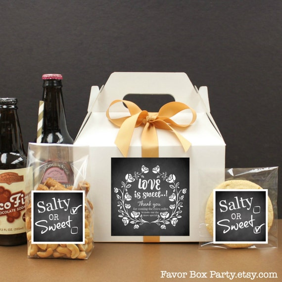 Wedding Welcome Box, 6 Out Of Town Wedding Goodie Bags, Hotel Guest ...