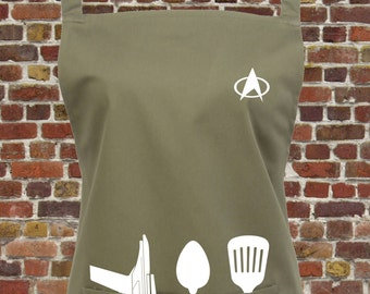 Star Trek Kitchen Apron with pocket - You Can Choose From 16 colours - Perfect Gift for Trekkies - Baking, Startrek Gift, 1042
