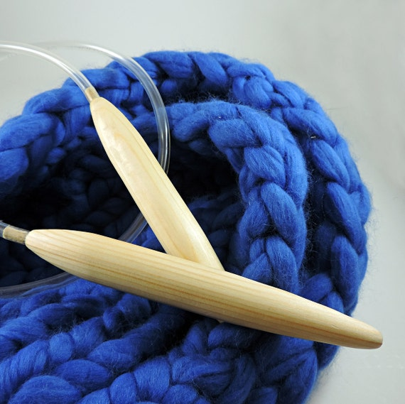 Knitting Patterns For Jumbo Needles : Giant Knitting Needles.25mm Super Big Wooden Needles. Jumbo