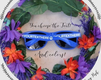 Custom Bachelorette Wedding Party Sunglasses You choose the text and colors!