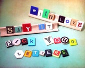 PICK YOUR LETTERS Scrabble Tiles, Game Letters,Individual, Scrabble, Mixed Media, Letter Tiles, Photo Prop, Words, Gifts,Home Decor, Wedding