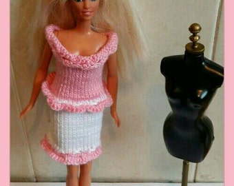 Barbie frilly dress design(4)