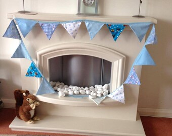 Baby's Blue and White Bunting
