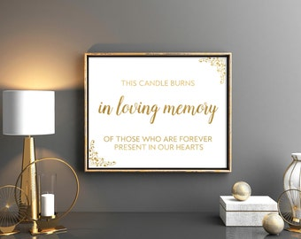 In Loving Memory of Wedding Signs / This Candle Burns in
