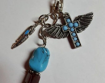 Turquoise Pendant Keychain