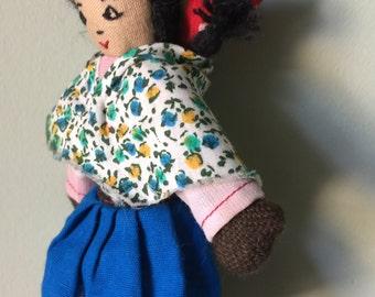 Peruvian Folk Art Doll Hand Made Dolls of World Costume of Peru