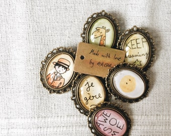 Macha's vintage brooches - Home made - Collection 1