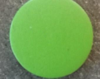Round wood beads dyed flat, lightgreen, 30 x 3 mm, hole: 2 mm; 3 pcs