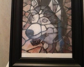 Your Pet in Faux Stained Glass