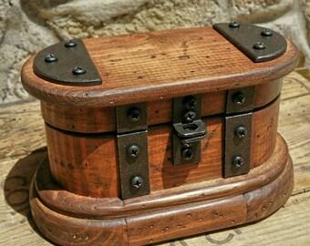 Wooden jewelry box, reclaimed wood keepsake box , rustic watch box