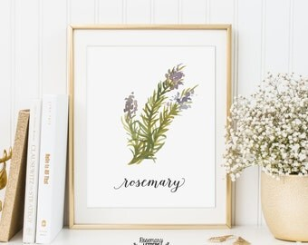 Kitchen Art, Kitchen Printable, Rosemary Printable, Herb Printable, Kitchen Printable, Kitchen decor, Herb Wall Art