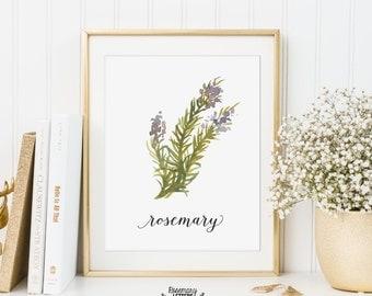 Kitchen Art, Kitchen Printable, Rosemary Printable, Herb Printable, Kitchen Printable, Kitchen decor, Herb Wall Art
