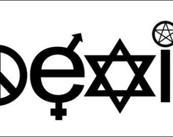 Coexist Religion Window Decal /Bumper Sticker