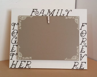 Picture Frame, Family Together Forever Picture, Wood Sign, Wood Picture Frame, 5 x 7 picture frame, 4 x 6 picture frame, brown picture frame