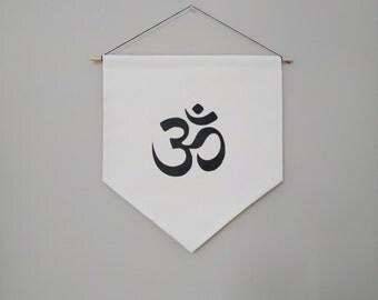 Om Symbol Handmade Wall Banner 14''x15.5''