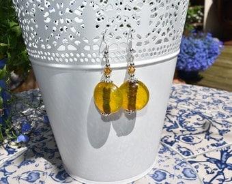 Honey coloured earrings