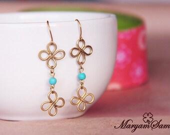 four leaf clover earring