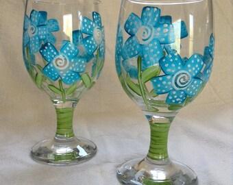 Blue Daisy Set of 2