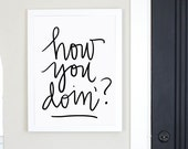 How You Doin'? Digital Download Quote Friends
