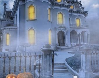 Haunted Mansion Halloween Backdrop (HWA-SE-004)