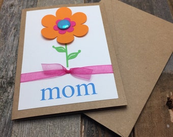 Mother's Day Card, Card for Mom, Flower Card, Mom's Day Card, Mom Card, Mom, Mother, Birthday Card for Mom, Birthday Card, Birthday