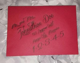 Custom Addressed Envelopes